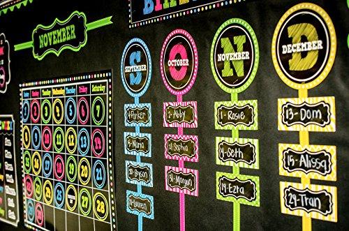 Teacher Created Resources Chalkboard Brights Our Class Birthdays Mini Bulletin Board (5506) Photo #5