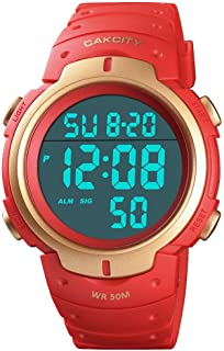 Mens Digital Sports Watch LED Screen Large Face Military Watches for Men Waterproof Casual Luminous Stopwatch Alarm Simple...