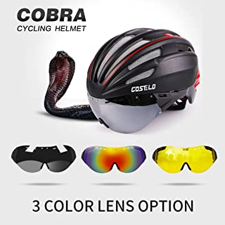 RED M Gray LEN : 2016 Costelo Cycling Helmet 4 Colors MTB Road Bike Helmet Bicycle Helmet Speed Airo RS Ciclismo Goggles Mountain Super Price