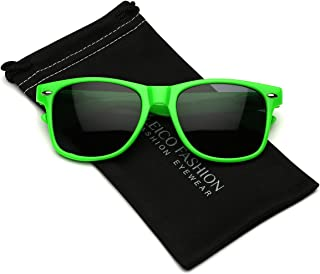 Iconic Horn Rimmed Classic Sunglasses - Bright Neon Colors