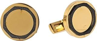Diamond Moon Stainless Steel Cufflinks for Men, Stainless Steel - 1800541240442