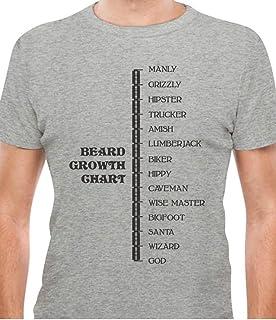 1e6e8add8 Beard Growth Chart Gift for Bearded Men - Manly - God Scale T-Shirt