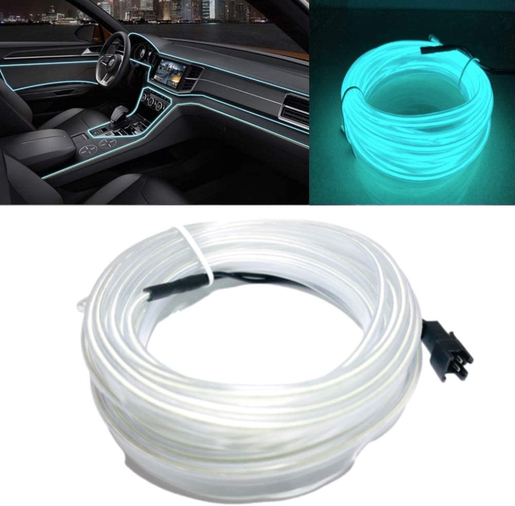 Parties Cosplay Dress DIY 1M//3.3FT Flexible LED Strip Lights Neon Glowing Strobing Electroluminescent Wire for Car Decoration 1M,Pink Festival
