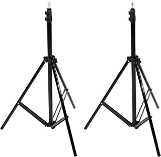 AmazonBasics Aluminum 7-Foot Light Stand with Case,2-Pack