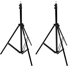 Amazon Basics Aluminum Light Photography Tripod Stand with Case – Pack of 2, 2.8..