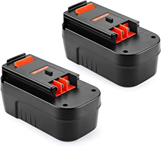 Powilling 18V 4.0Ah HPB18 Replacement Lithium-Ion Battery for Black and Decker 18 Volt Battery Firestorm 18v Battery HPB18-OPE 244760-00 A1718 FS18FL FSB18 Black Decker 18V Battery(2Packs)