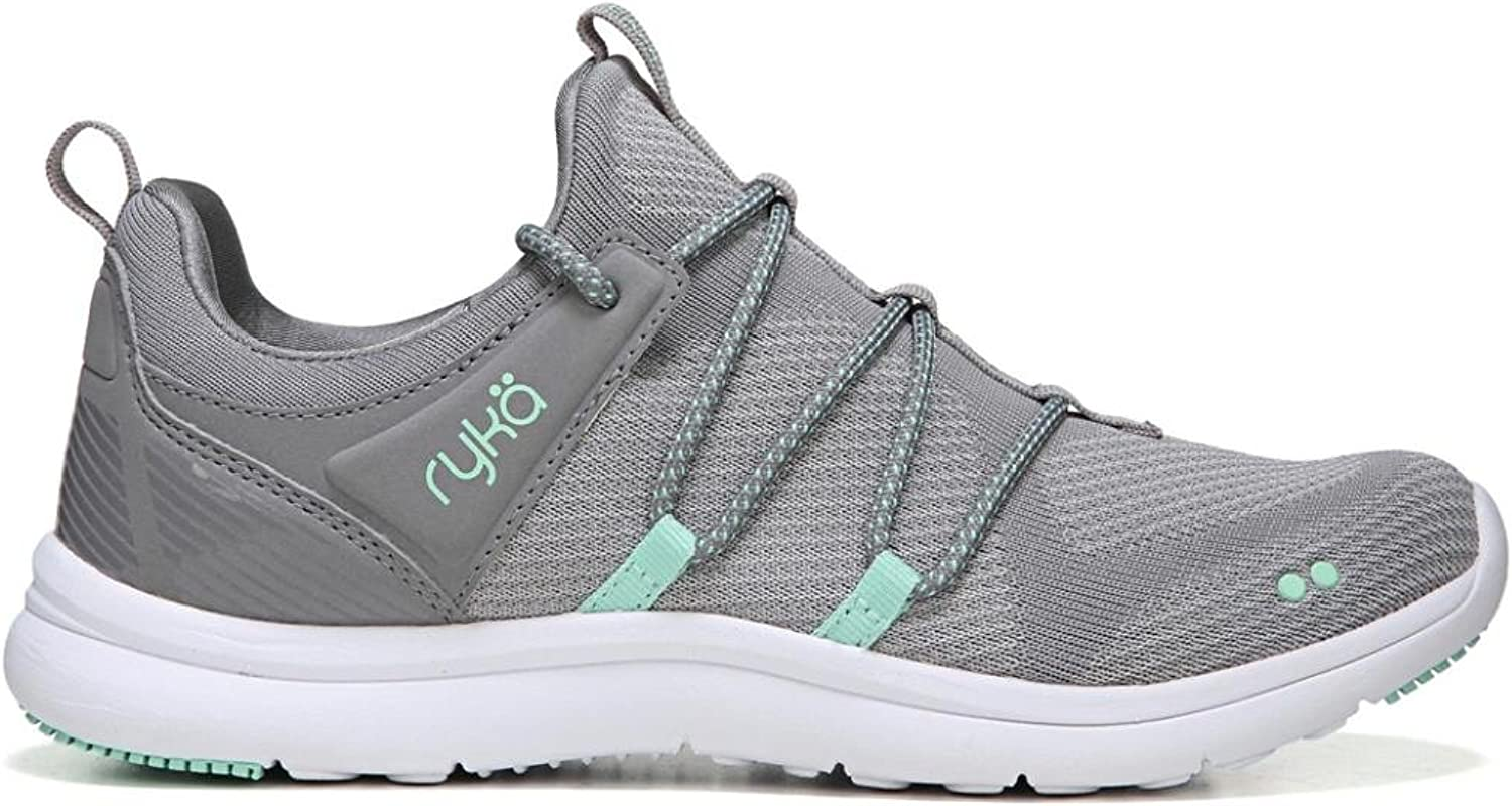Ryka Women's Caprice Frost Grey Yucca Mint Chrome Silver 6 D US