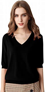 Women's Short Sleeve Knit Sweater Top
