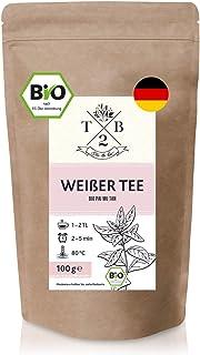 Bio Weißer Tee – Pai Mu Tan Tee lose. 100 g – weich, duftig und aromatisch. ca. 40 Tassen | Tea2Be by Sarenius