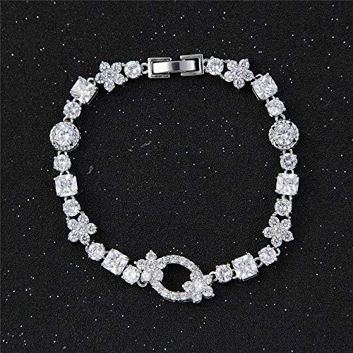 Mayanyan Prägnante Mode Zirkon unregelmäßiger Geometrie floral Armband Damen Geschenk