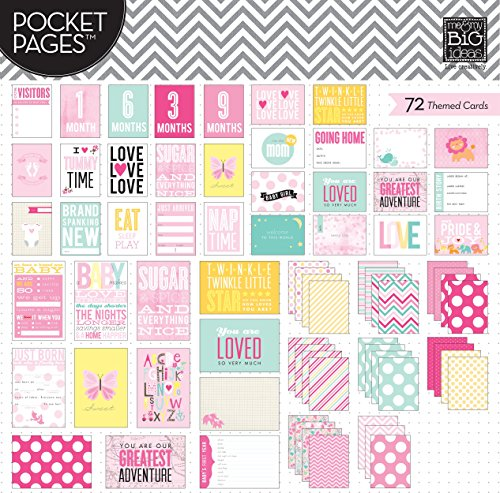 me & my BIG ideas Pocket Pages Journaling Cards, Baby Girl