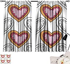 Hariiuet Curtain tiebacks Seamless Pattern with Decorative Hearts for Coloring Book Romantic Ornament 2 72
