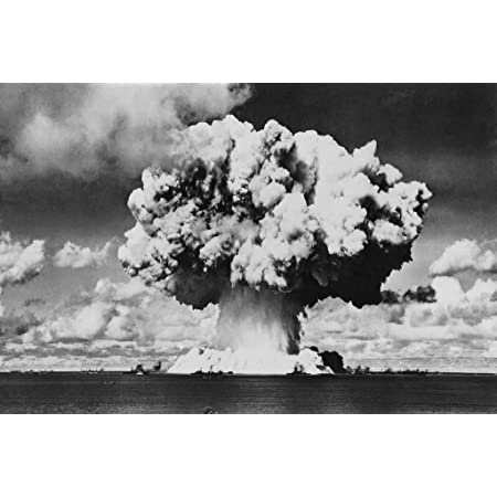 Atomic Bomb Test Operation Crossroads Photograph Wall Art Canvas Print 24X24 In