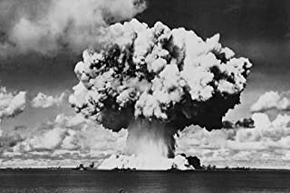 Nuclear Bomb Explosion Baker Day Test BW Photo Photograph Cool Wall Decor Art Print Poster 36x24
