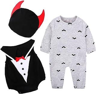 1f4089b4a1848 Ouneed® Halloween Deguisement Bebe Garcon Fille Vetement Diable Enesemble  3pcs