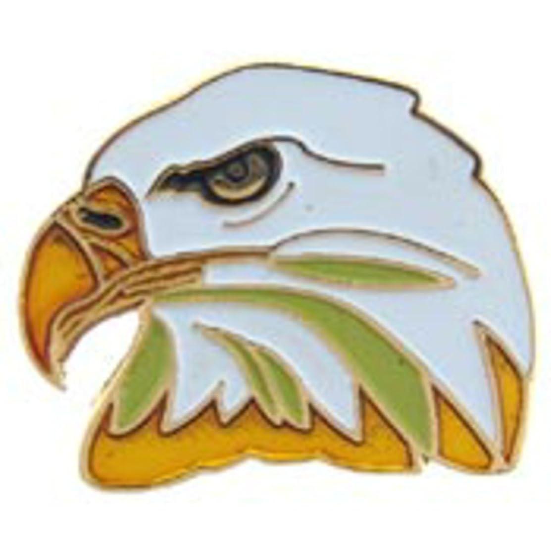 EagleEmblems P63605 Pin-Eagle,Head,Left (1'')