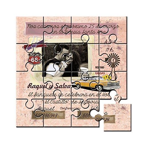 Puzzles Invitaciones De Boda Originales