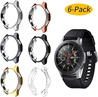 Ansblue 6 Pack Compatible with Samsung Galaxy Watch 46mm/Gear S3 Frontier Case, Soft TPU Slim Plated Case Anti-Shock Cover All-Around Protective Bumper Shell for Galaxy Watch 46mm