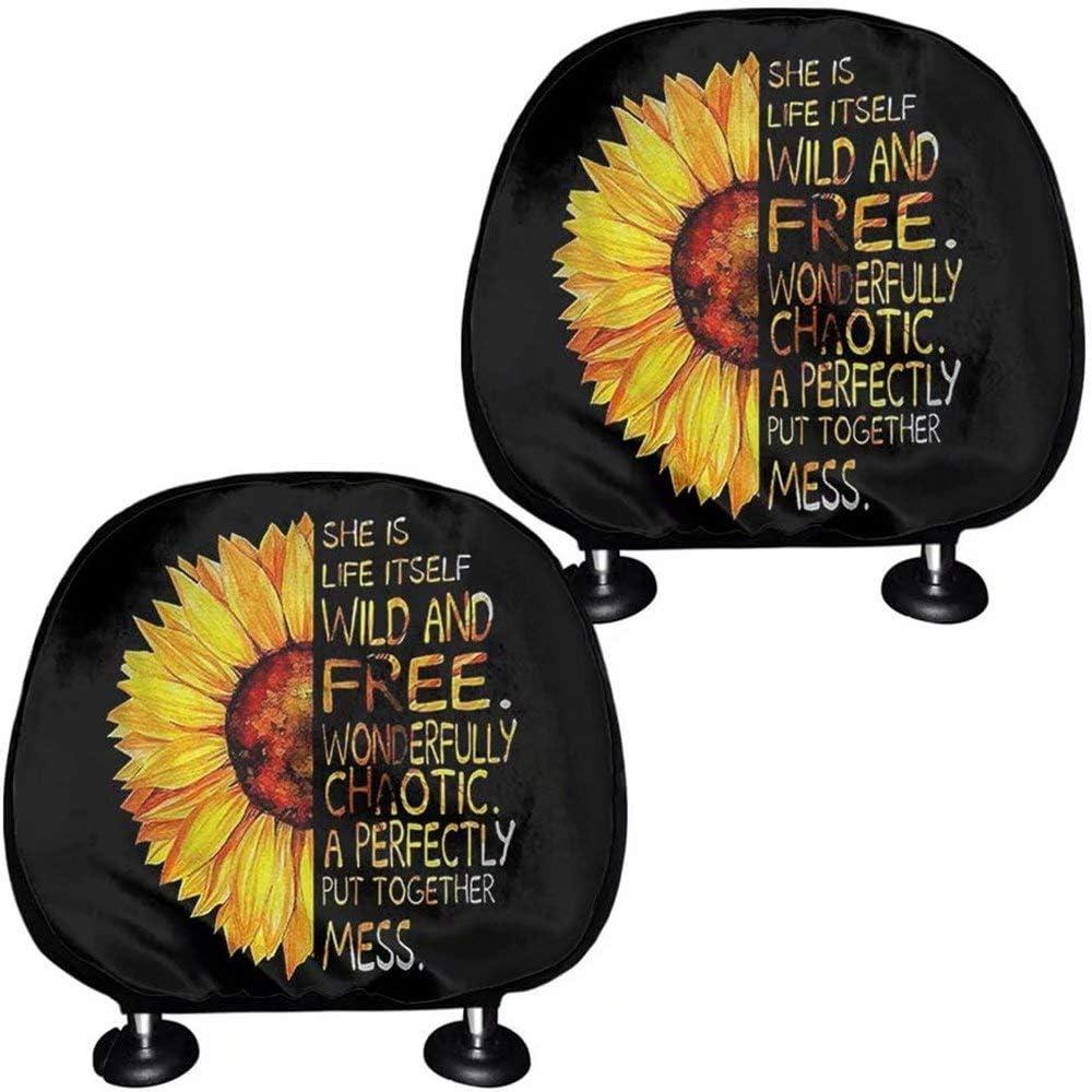 FOR U DESIGNS Vintage Sunflower Letter Inexpensive Print Art shop Headre Car Seat
