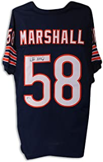 Wilber Marshall Autographed Chicago Bears Autographed Navy Blue Jersey - COA Included Signature