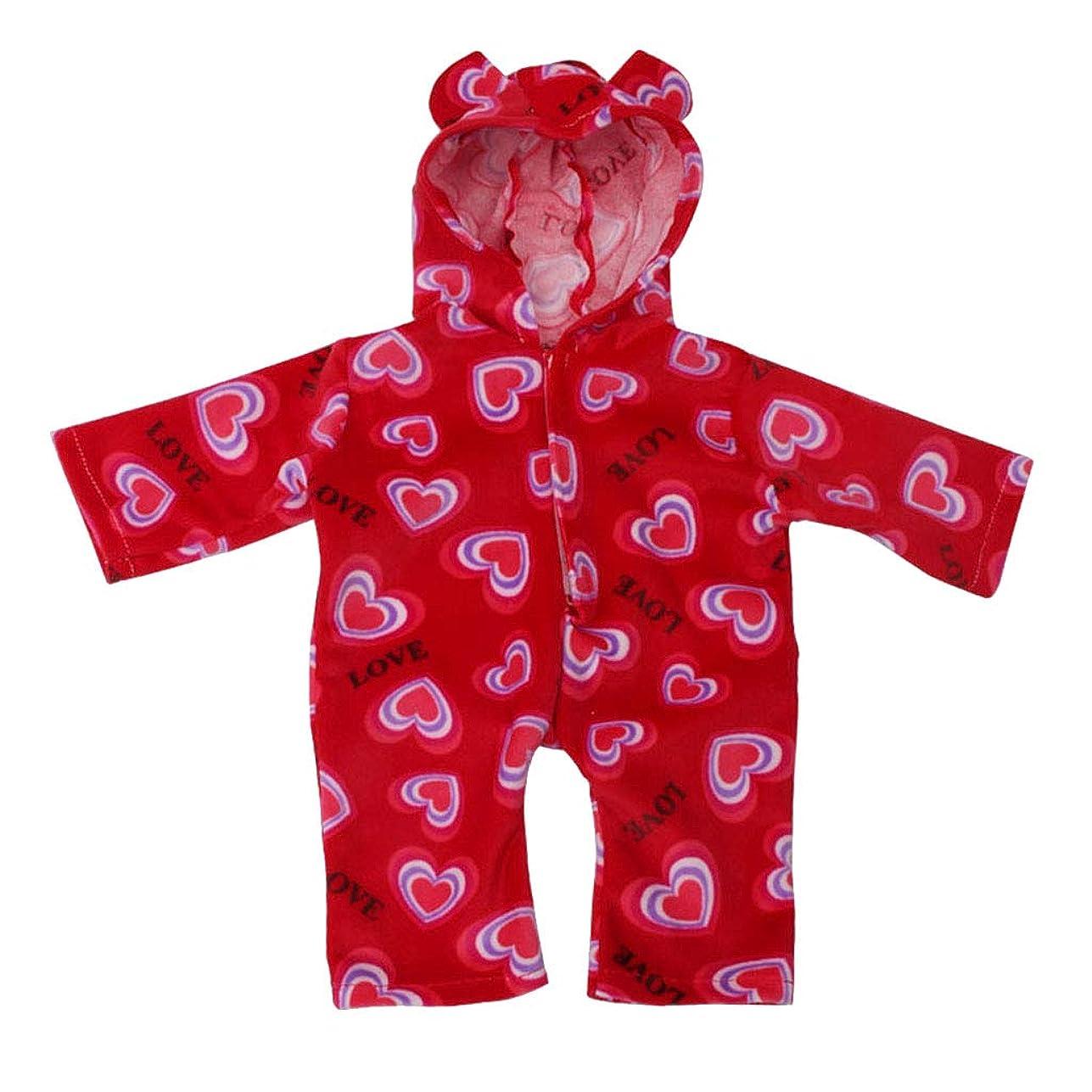 臨検のために生き残りlahomia かわいいハートスーツパジャマアメリカ人の女の子のための18インチ人形ドレスアップ - 赤, 説明したように