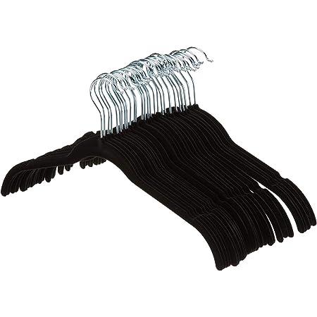 AmazonBasics Velvet Shirt/Dress Hangers - Black (Set of 30)