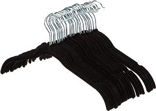 AmazonBasics - Perchas de terciopelo para camisas/vestidos - Paquete de 30 Negro