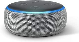 Echo Dot (3rd Gen) – Smart speaker with Alexa - Heather Grey Fabric