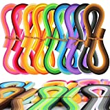 Quilling de papel Conjunto Set CHEPL 900 tiras de papel de filigrana Filigranas Para Artesanías de Bricolaje y Arte de Papel(9 Colores 5mm Ancho 39cm Longitud)