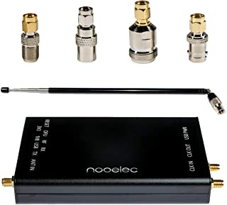 Nooelec HackRF Complete Bundle - Genuine HackRF One Software Defined Radio (SDR) with 0.5PPM TCXO in a Custom Black Aluminum Enclosure. ANT500 Antenna & SMA Antenna Adapter Bundle Included