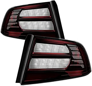VIPMOTOZ Smoke Red Lens New OE-Style OE-Style Tail Light Lamp Assembly For 2004-2008 Acura TL, Driver & Passenger Side