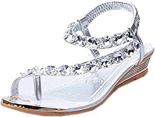 Summer Sandals,Boomboom 2018 Woman Teen Girls Summer Sandals Rhinestone Flats Platform Wedges Shoes