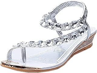 Summer Sandals,Boomboom 2018 Woman Teen Girls Summer Sandals Rhinestone Flats Platform Wedges Shoes