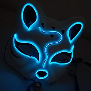 Yinrunx Masquerade Mask for Women Ultralight Mask Beauty Fox LED Glowing Mask Halloween Street Dance Party Mask