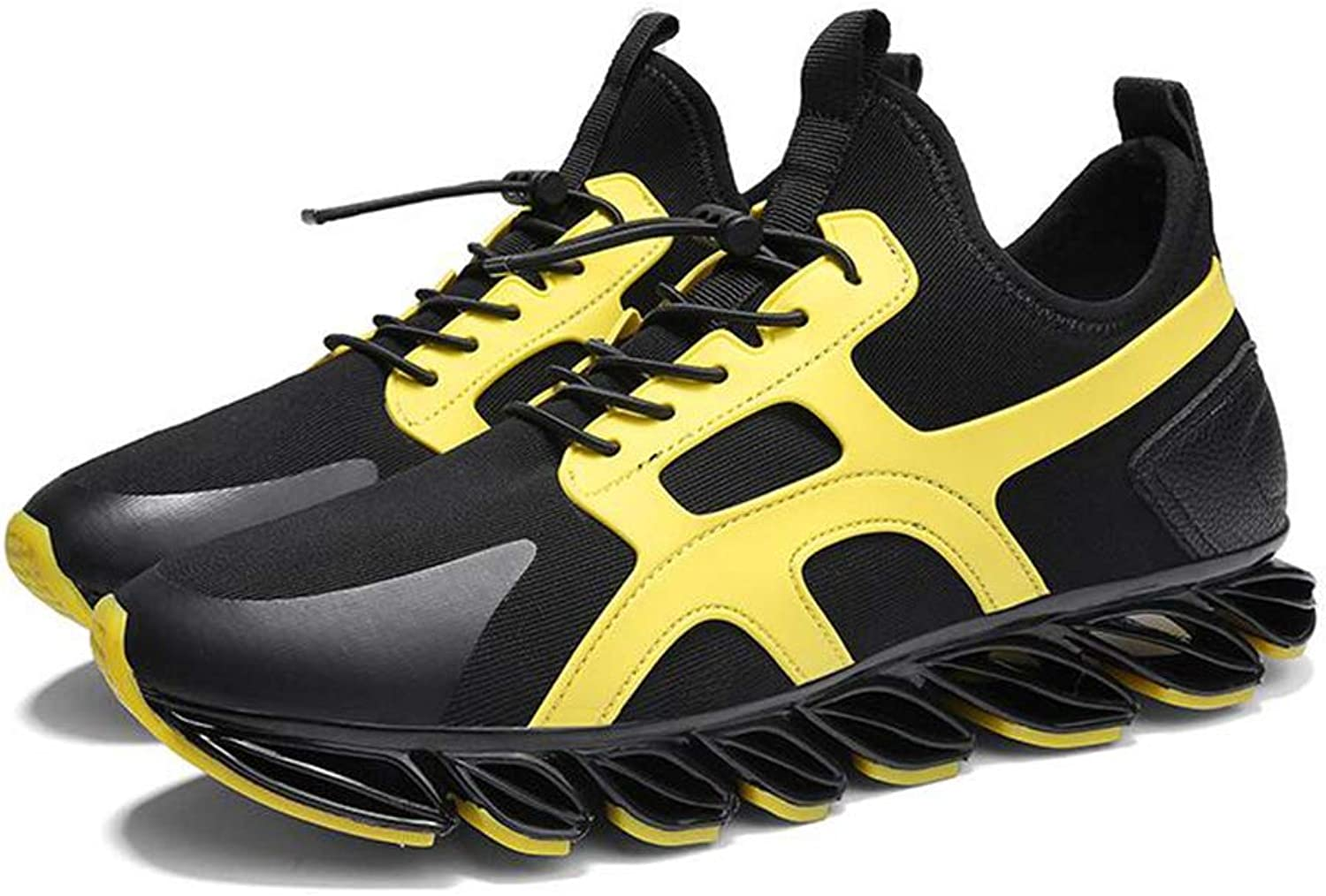 Y-H Men's Running shoes, Spring Fall Slip-Ons Training shoes,Outdoor Hiking shoes, Trekking Travel shoes (color   Yellow, Size   42)