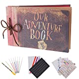 "RECUTMS Album per Foto Scrapbooking ""Our Adventure Book"" Album Fotografico 80 Pagine D..."
