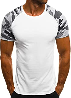 kolila Fashion Mens Slim Fit T Shirt Sale Spring Summer Casual Camouflage Printed Short Sleeve Top Muscle Blouse 2020