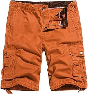 TOSKIP Mens Casual Twill Elastic Ripstop Basic Cargo Shorts Below Knee Loose Fit Multi-Pocket Capri Long Shorts All-Season