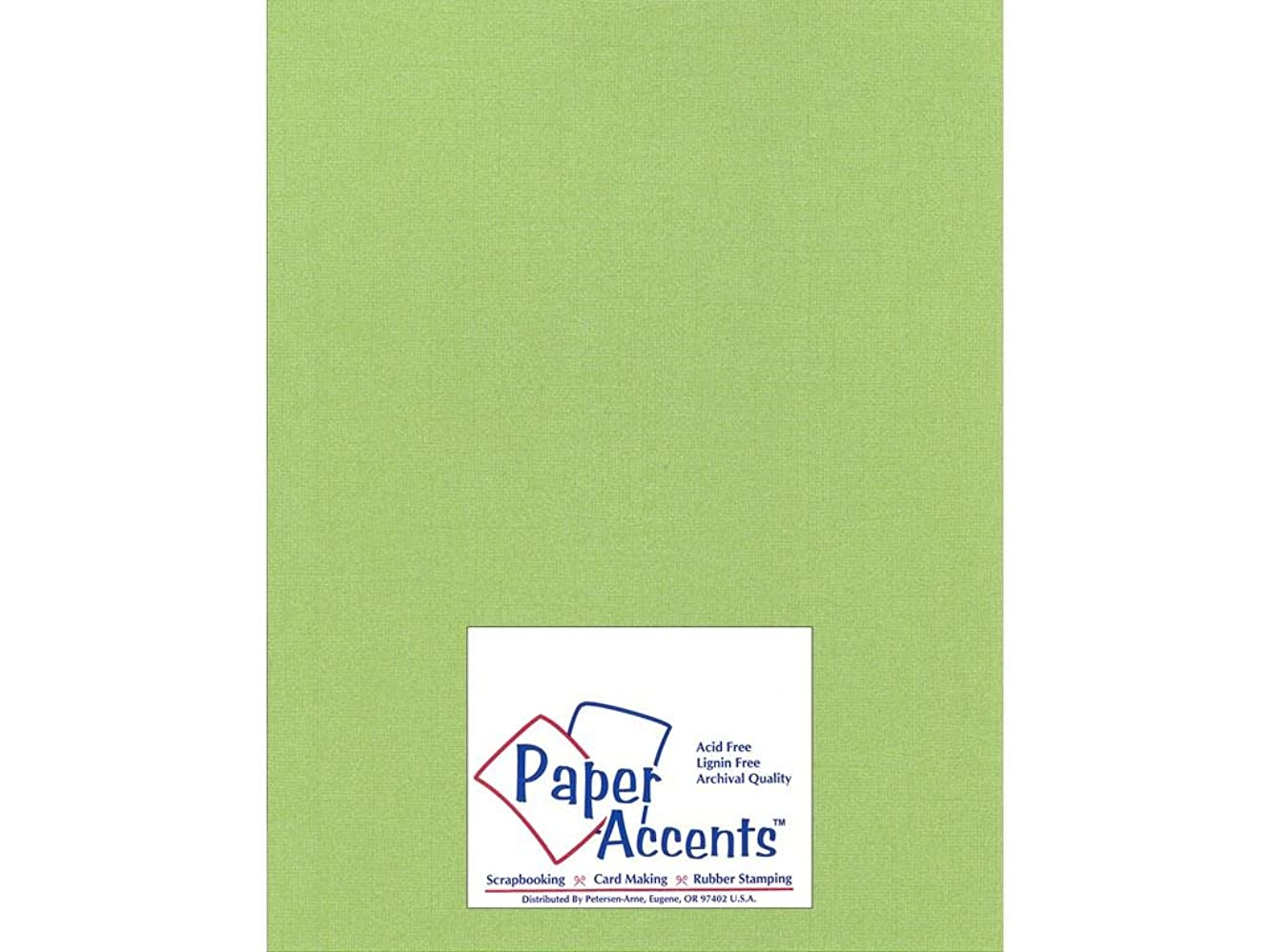 Accent Design Paper Accents Cdstk Glimmer 8.5x11 80# Sparkling Apple