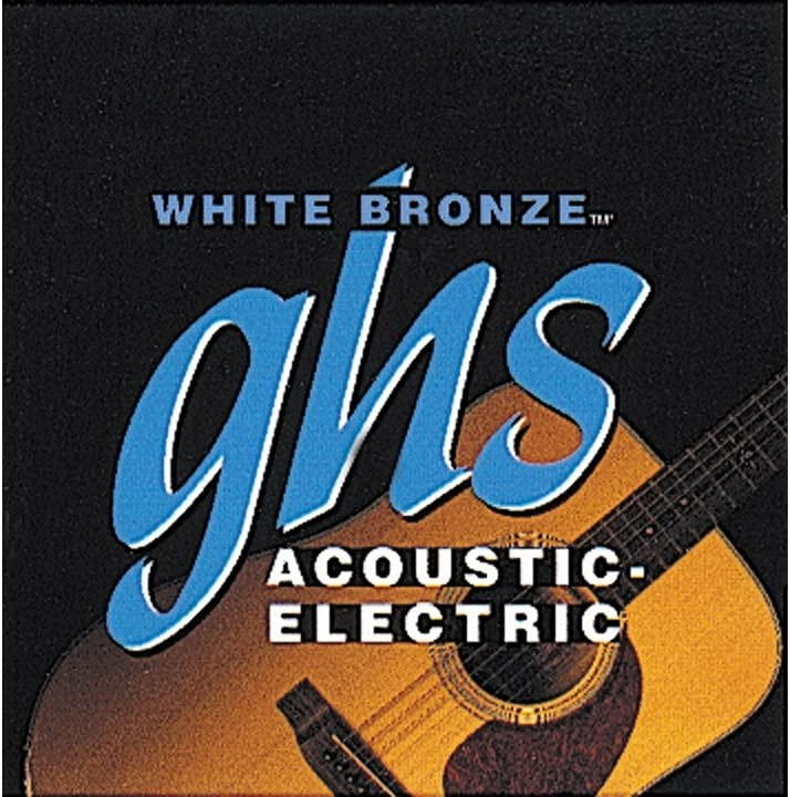 GHS Safety and Max 59% OFF trust White Bronze True Acoustic-Electric Strings Guitar Light