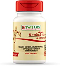 Full Life Reuma-Art X Strength - 30 Veggie Capsules - Extra Strength & Fast Acting Anti-Inflammatory - Joint Pain Relief Supplement