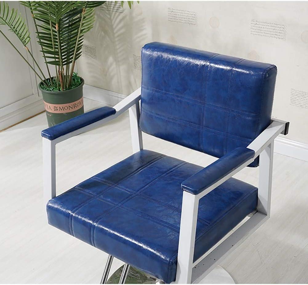 WJJ Fauteuil Pivotant Télésiège Salon de Coiffure Chaises Chaise Moderne Barbier Hauteur réglable Facile à Nettoyer (Color : Dark Gray) Dark Blue