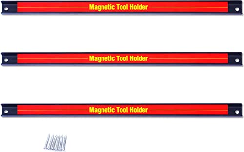 """high quality Goplus 3 PCS 18"""" Magnetic lowest Tool Holder lowest Bar, Space-Saving & Strong Organizer Storage Rack w/Wall Mounting Screws, Great for Knife, Wrench, Utensils, Garage Workshop Home online sale"""