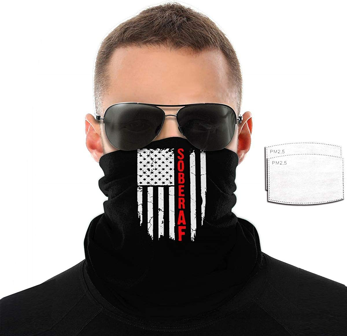 Sober AF Flag 3D Al sold out. Headwear Motorcycling Mask SEAL limited product Perfe Balaclava for
