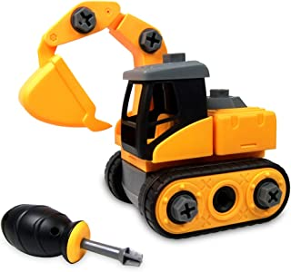 WisToyz Take Apart Toys, Toy Vehicles, Assembly Toy Excavator with Constructions Set, Building Vehicle Play Set with Screwdriver, Ideal Educational Toy for Toddlers, Boys & Girls Aged 3, 4, 5, 6