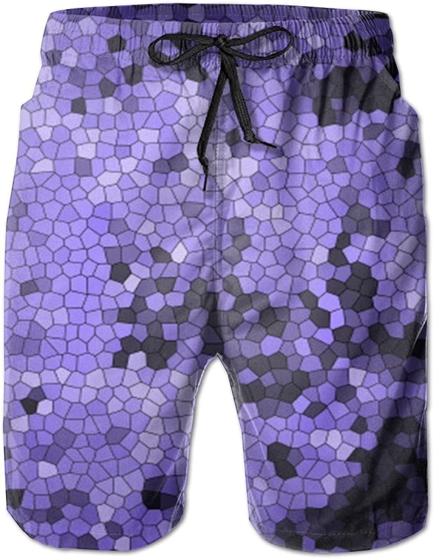 a3957360 PIN Lightweight Quick Quick Quick Dry Purple Square Beach Shorts Swim  Trunks Beach Pants 671f78