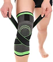 Knee Braces for Knee Pain [2 Pack], Women Men Adjustable Knee Compression Sleeve Stabilizers Support with Straps for Arthr...