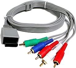 Importer520 Nintendo Wii / Nintendo Wii U Component HDTV AV High Definition AV Cable (Bulk Packaging)