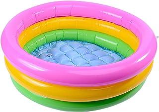 Wowlela Piscina Inflable Infantil Piscina de Agua para Niños Piscina 3 Aros Bebé Sunset