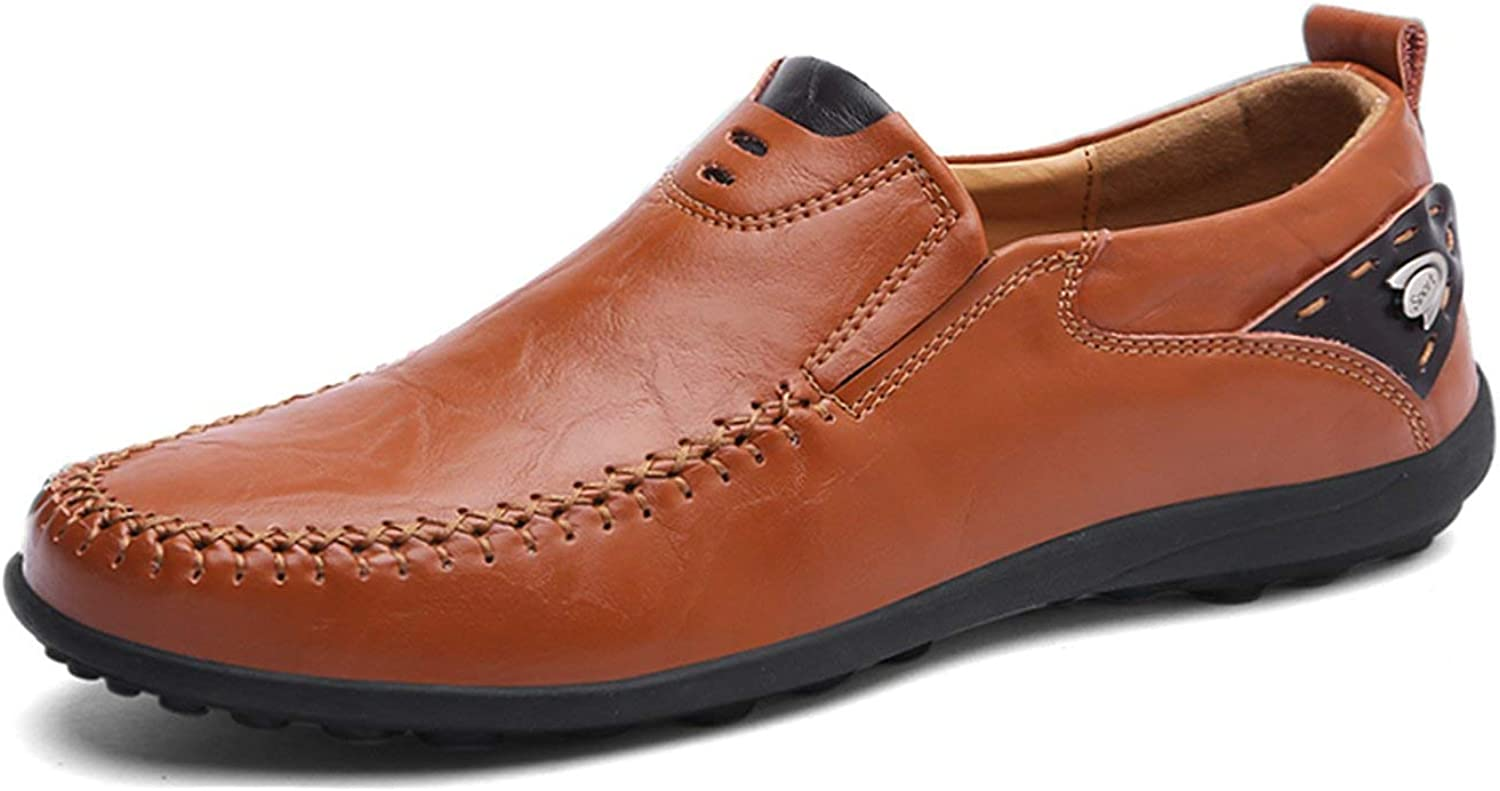 ALWAYS ME Men Casual shoes Summer Genuine Leather Loafers Slip On Flats Breathable Driving shoes